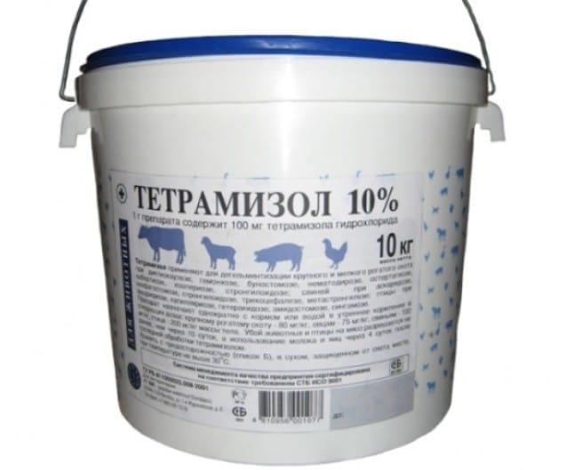 Тетрамизол 10: инструкция по применению для птиц, дозировка с водой.