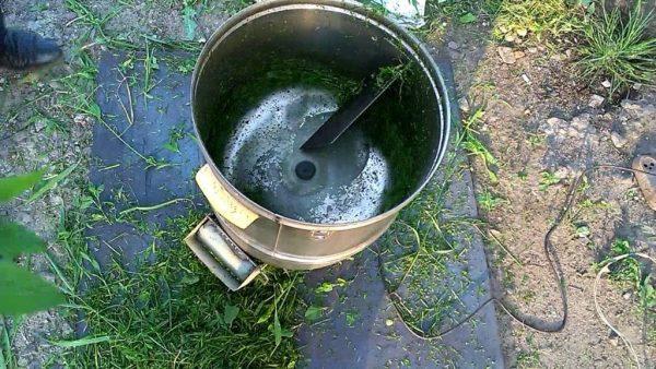 Измельчитель кормов из стиральной машинки