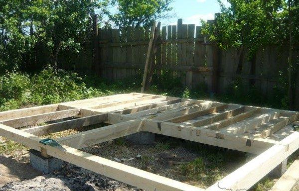 Фундамент для деревянного домика
