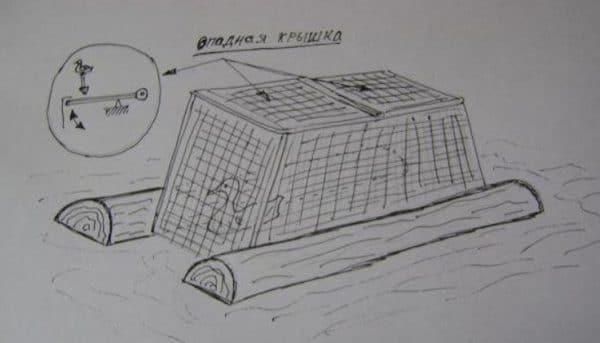 Ловушка с отпадной крышей