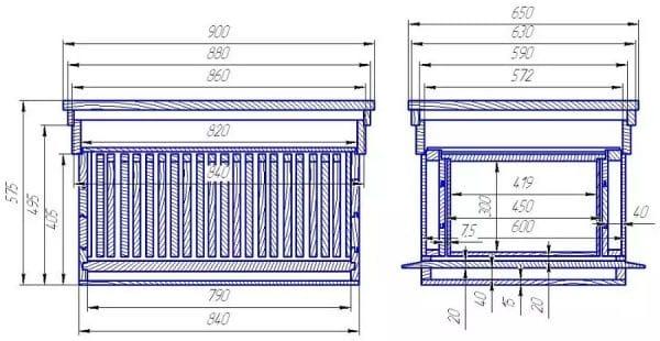 Улей-лежак на 24 рамки: чертеж, размеры